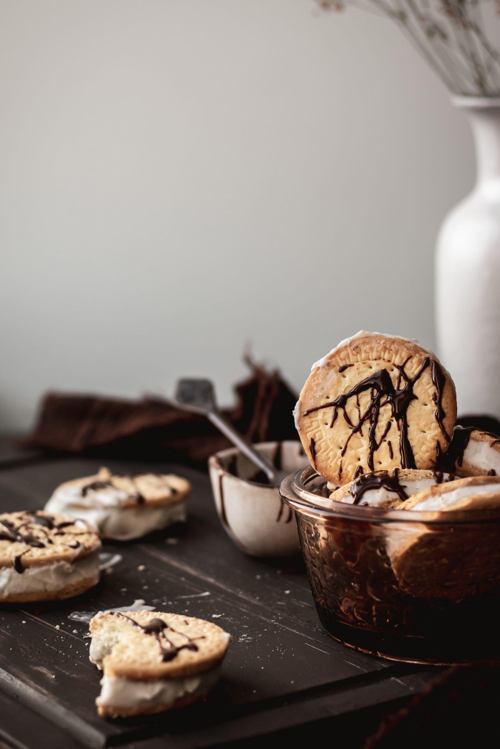 Kokosiniai ledai sausainyje